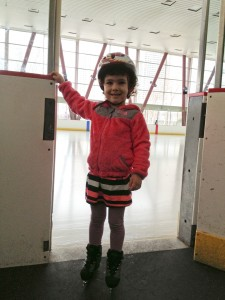 First time on ice skates!